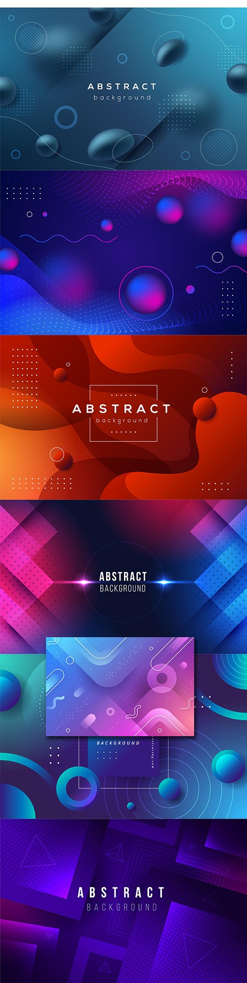 Gradient abstract design geometric background shape