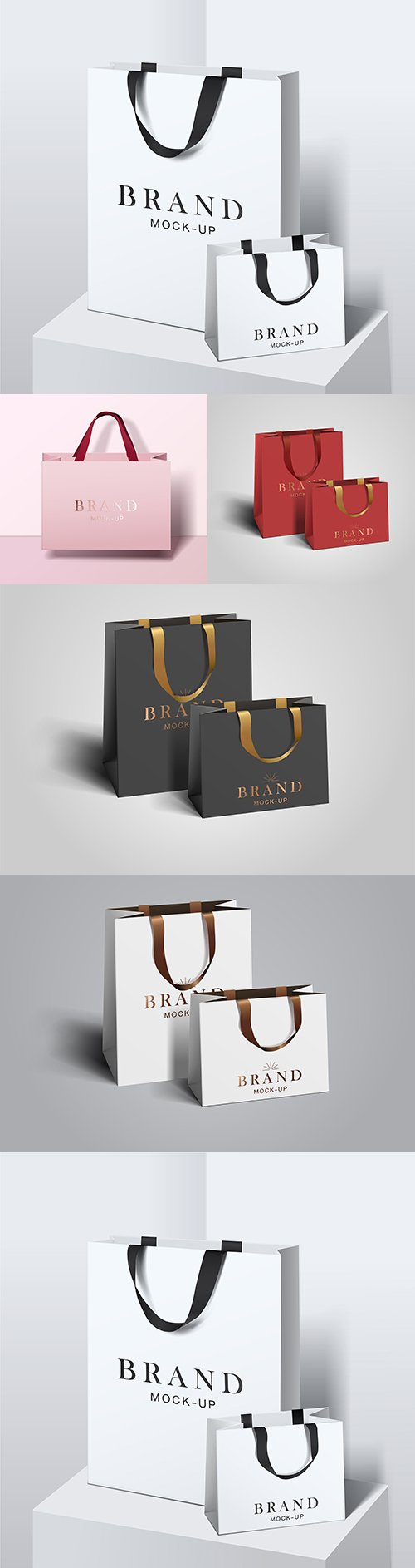 Bag for shopping empty paper bags branded template