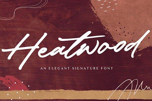 Heatwood YH - Luxury Signature Font