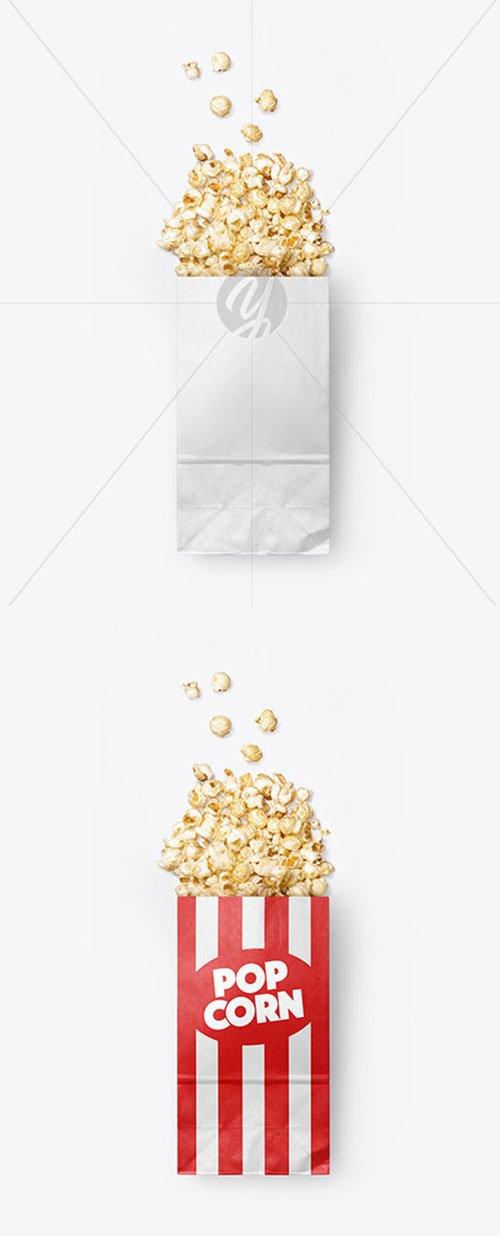 Paper Package w/ Popcorn Mockup 55873