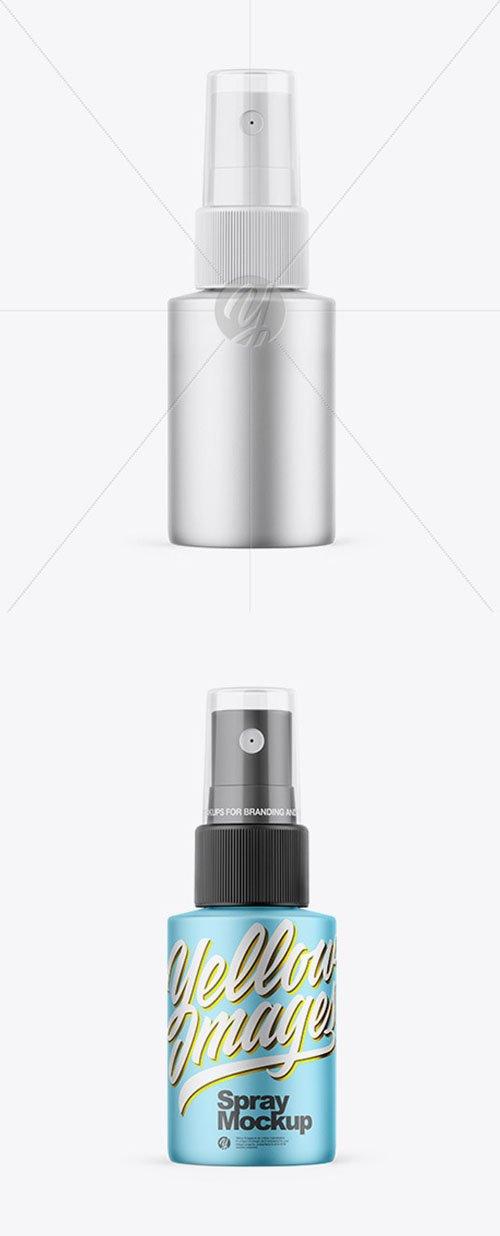 Matte Metallic Spray Bottle Mockup 58836