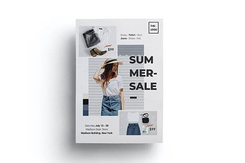 Summer Sales Fashion Flyer