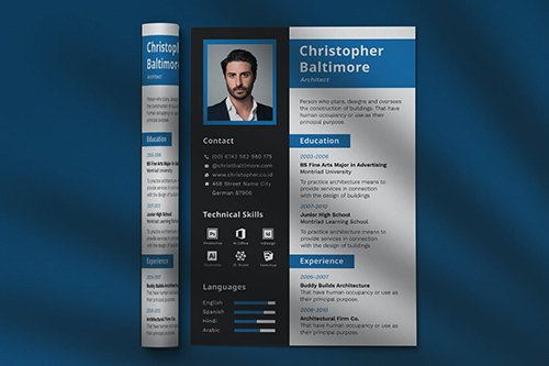 CV Resume Professional Template Vol. 21