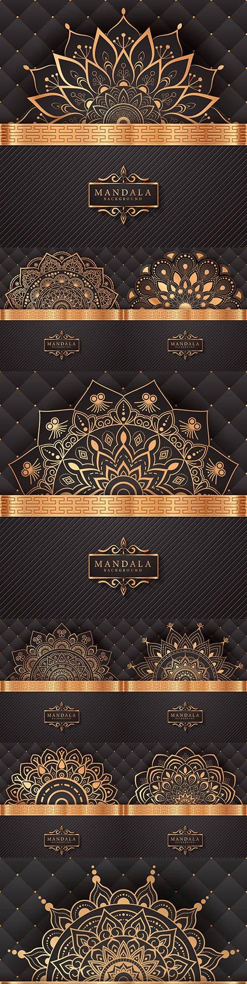 Mandala creative luxury gold design background 6