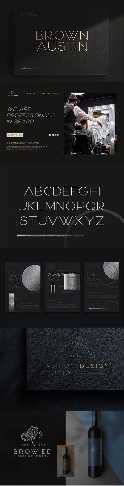 Brown Austin - Modern Sans Serif Font