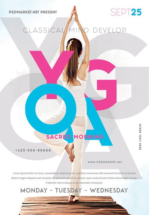 Yoga event - Premium flyer psd template