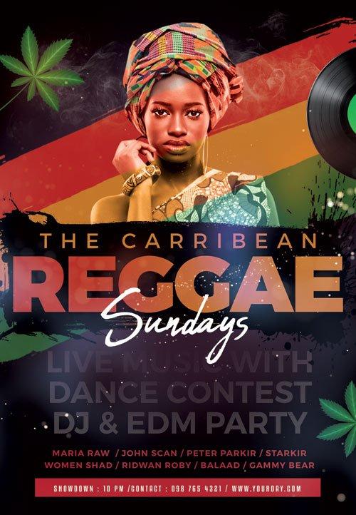 Reggae sunday - Premium flyer psd template