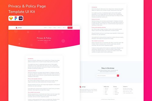 Privacy & Policy Page Template UI Kit