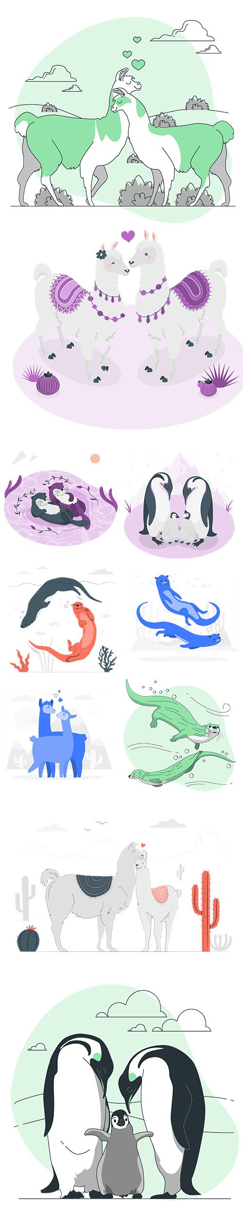 Colorful Animals Collection Set Vol 3