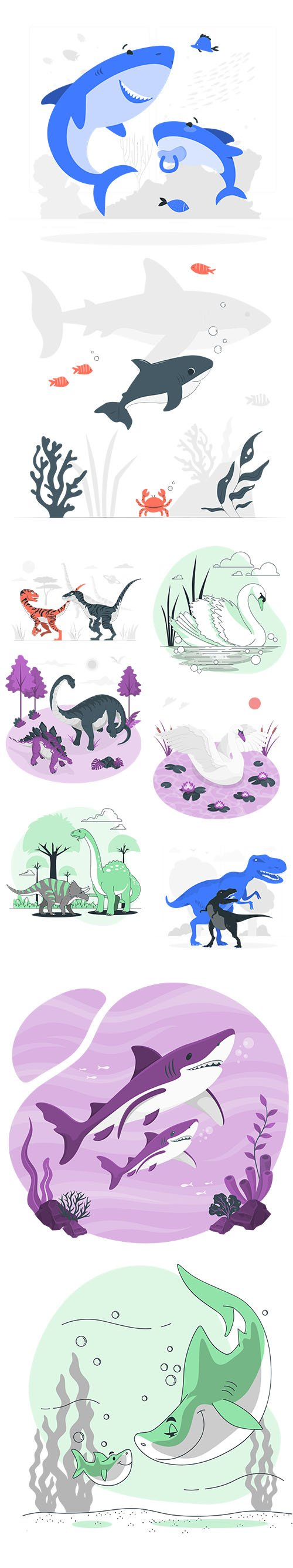 Colorful Animals Collection Set