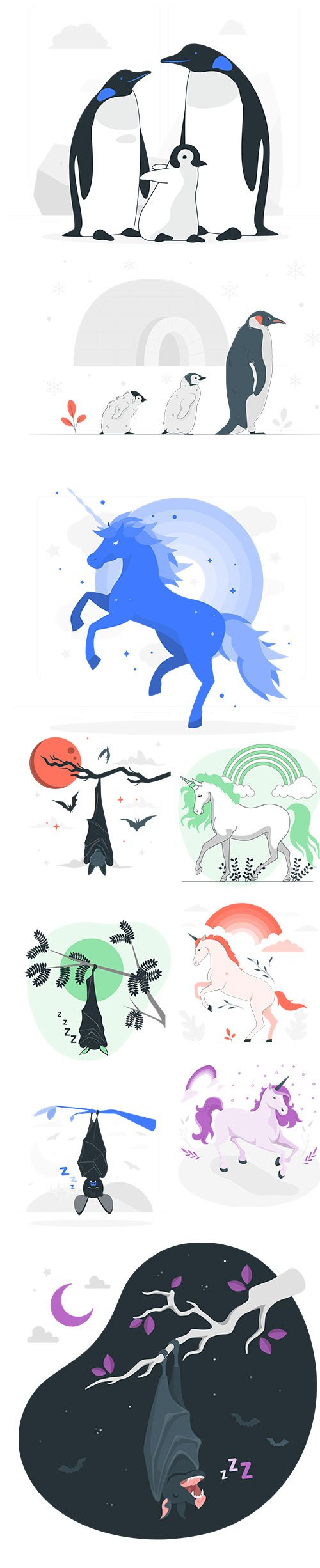 Colorful Animals Collection Set Vol 4