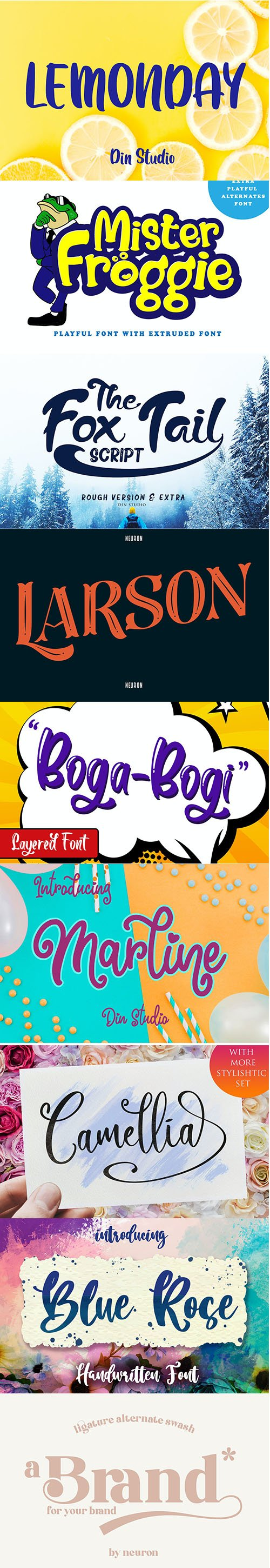 Pack of 9 Creative Fonts Vol 5