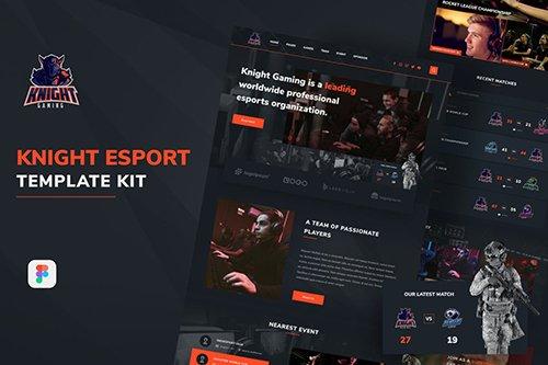 Knight eSport Web UI Kit