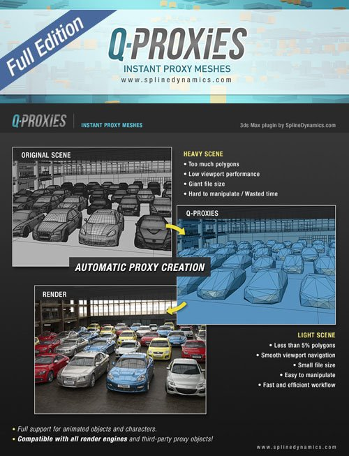 Q-Proxies 1.02 for 3ds Max 2015+