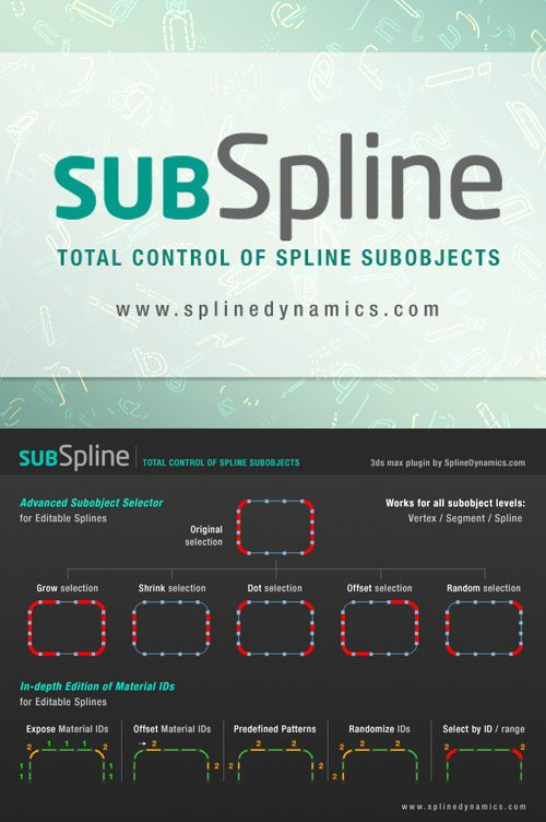 SubSpline 1.11 for 3ds Max