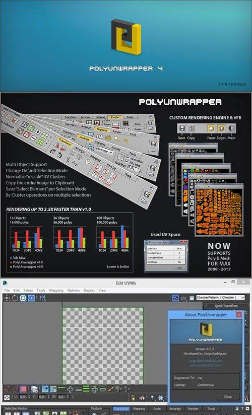 PolyUnwrapper 4.3.5 for 3ds Max 2010-2021