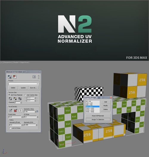 Advanced UV Normalizer 2.4.4 for 3ds Max 2010-2021