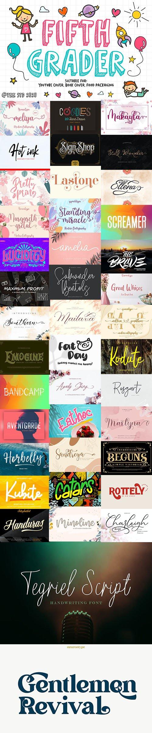 Super Fonts Pack July 2020