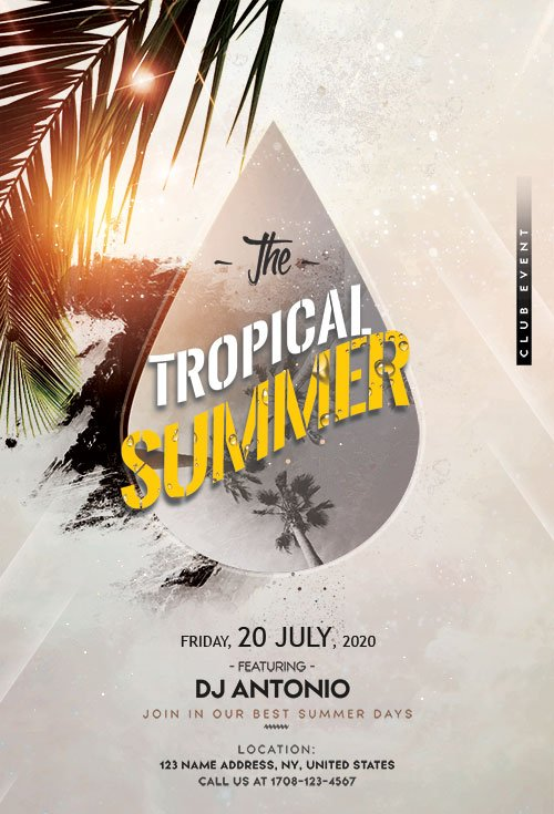 Tropical Beach - Premium flyer psd template