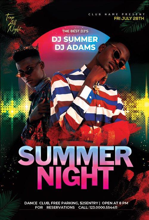 Summer Night Event - Premium flyer psd template