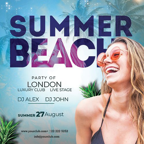 Summer Time - Premium flyer psd template