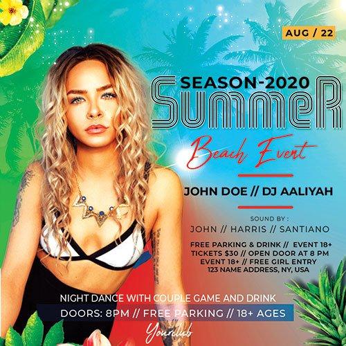 Summer Beach Event - Premium flyer psd template