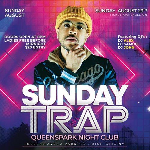 Dj Sunday Club - Premium flyer psd template