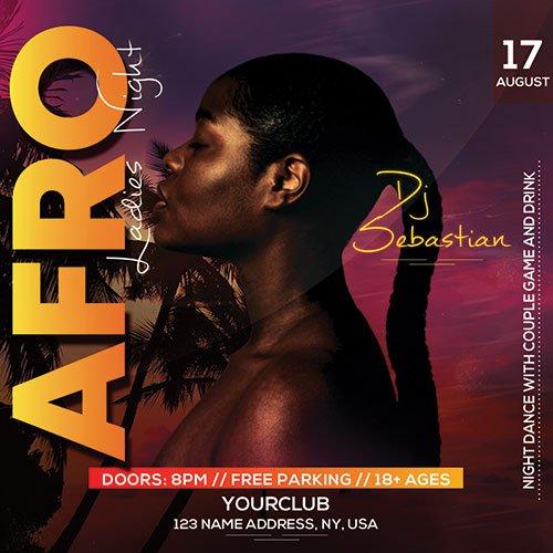 Afro Night Club - Premium flyer psd template