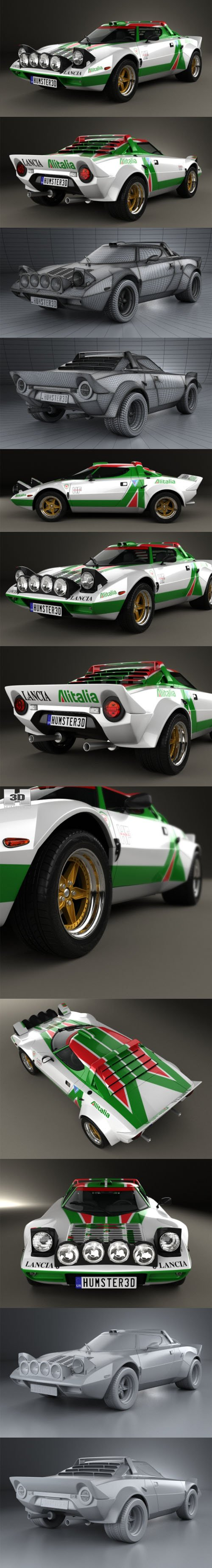 Lancia Stratos Rally 1972 for Cinema 4D