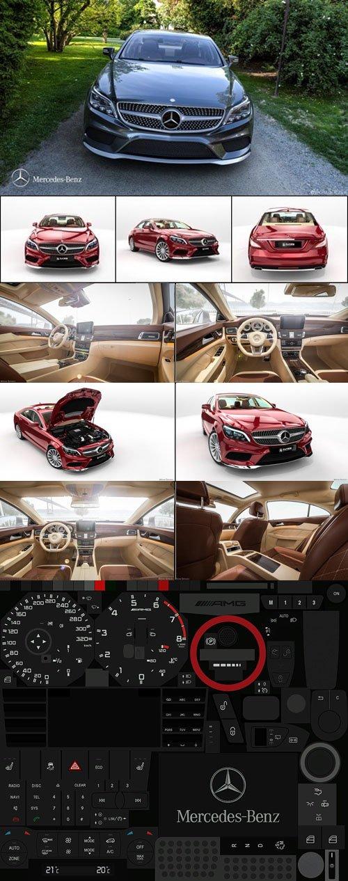 Mercedes-Benz CLS 500 2015 - 3D Models