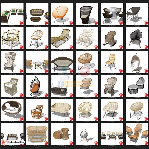 Outdoor Furniture Sketchup Collection