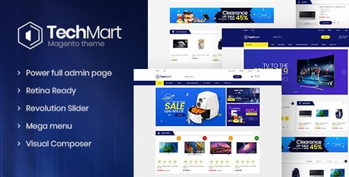 ThemeForest - Techmart v1.3.1 - Multi-Purpose Responsive Magento2 Theme (Update: 3 March 20) - 21086483