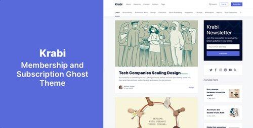 ThemeForest - Krabi v1.0 - Membership and Subscription Ghost Theme - 27643683