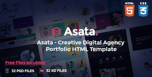 ThemeForest - Asata v1.0 - Creative Digital Agency Portfolio Template - 26660368