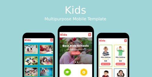 ThemeForest - Kids v1.0 - Multipurpose Mobile Template - 19263118