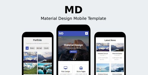ThemeForest - MD v1.0 - Material Design Mobile Template - 19298643