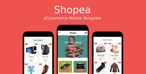 ThemeForest - Shopea v1.0 - eCommerce Mobile Template - 19050708