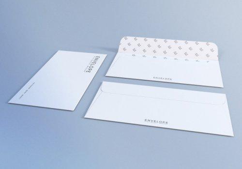 White envelope mockup design template for presentation