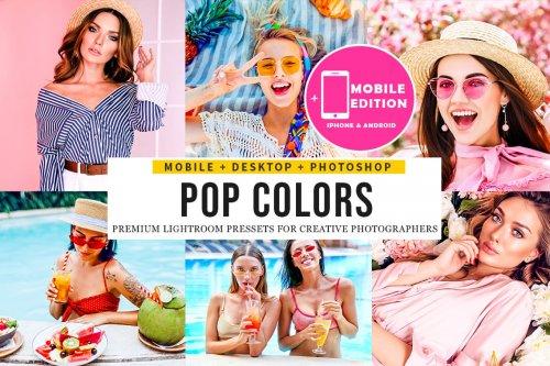 CreativeMarket - Pop Colors Lightroom Presets 5123669