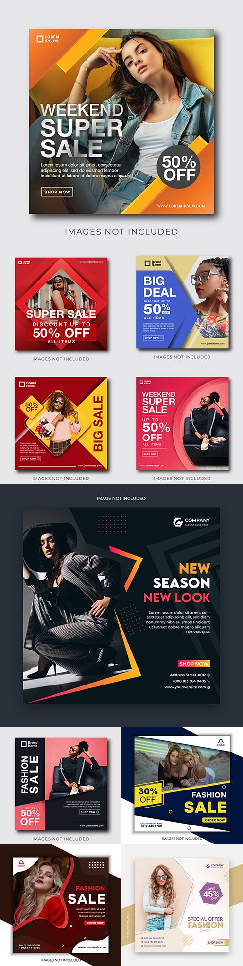 Fashion social sale instagram post template 5