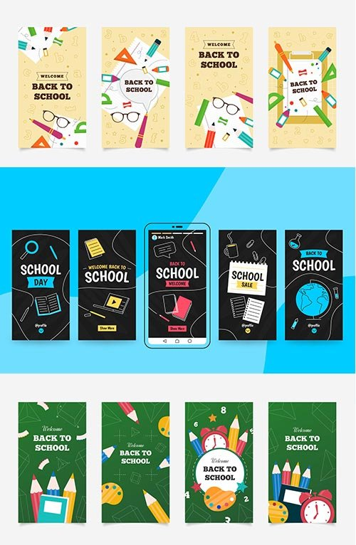 Back School Instagram Stories Collection