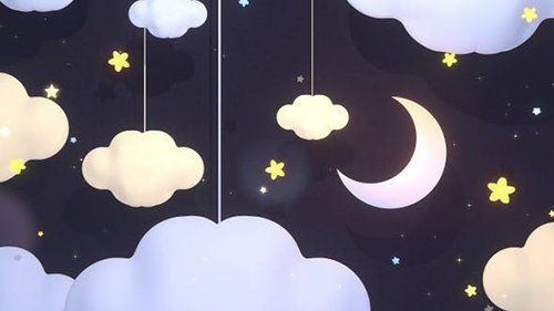 Moon And Clouds Paper Art 26597808