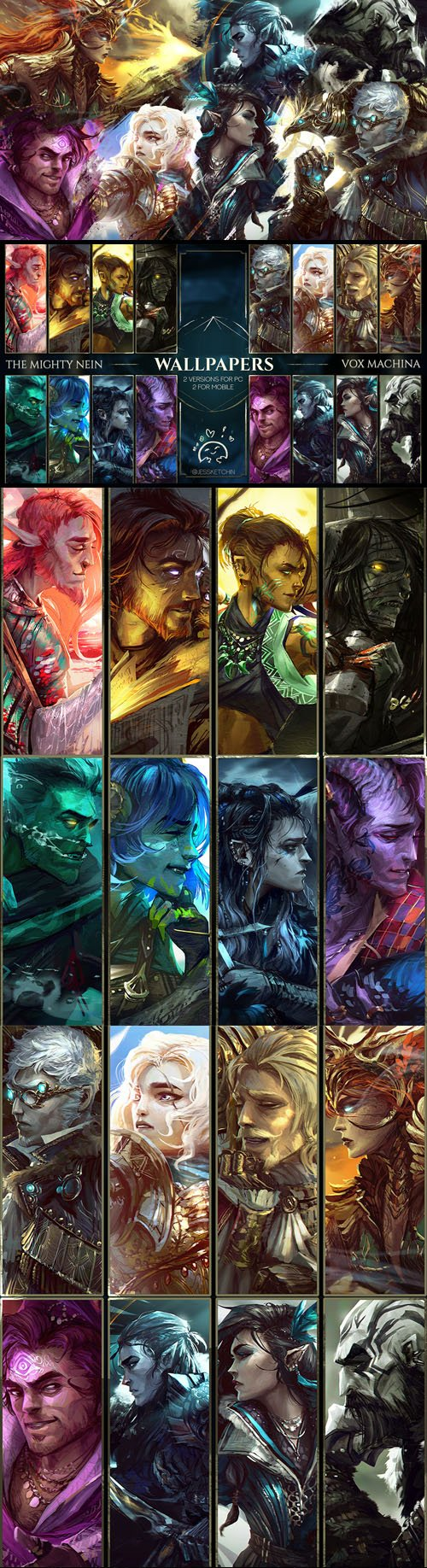 The Mighty Nein & Vox Machina - Mega Wallpaper Pack (PC/Mobile)