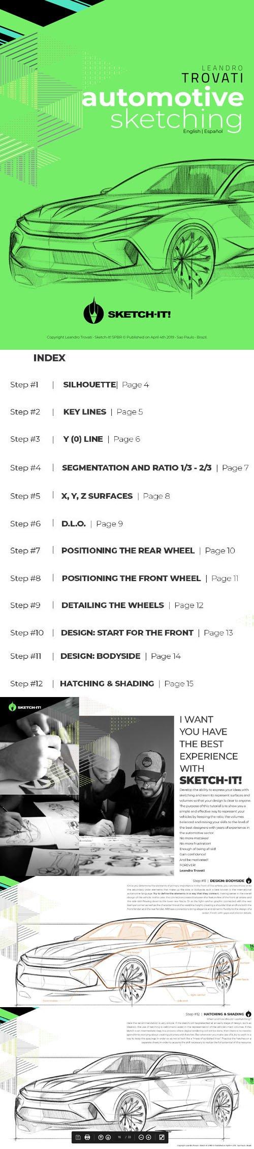Sketch-It! Automotive Sketching E-book (ENG|SPA|BR)