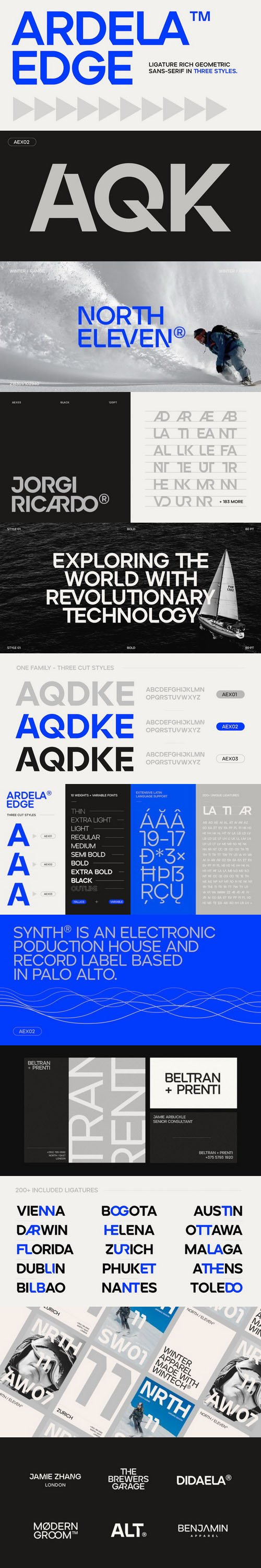 ARDELA EDGE Font Family - Ligature Rich Geometric Sans-Serif [51-Weights]