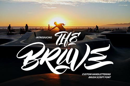 The Brave | Custom Handlettering Brush Script
