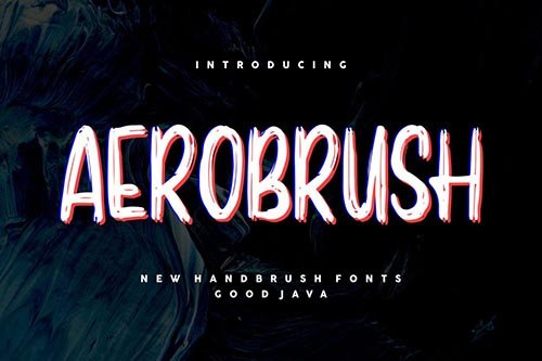 Aerobrush GJ - Modern Brush Font