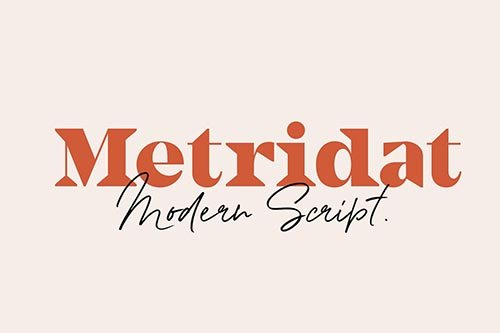 Metridat Fonts DUO Set