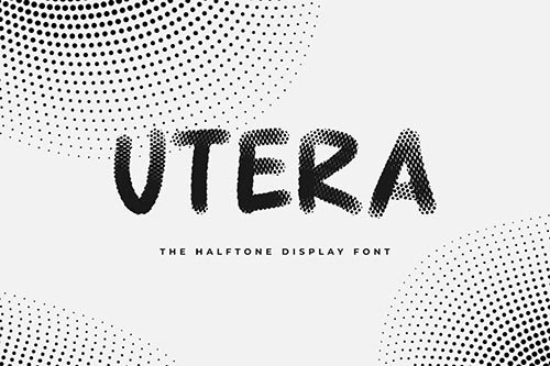 Utera - The Halftone Display Font