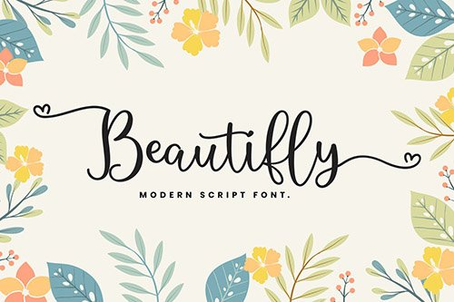 Beautifly Bold and Bouncy Handwritten Script Font